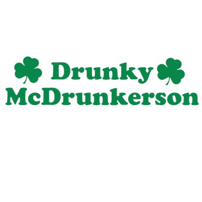Drunky McDrunkerson St. Patrick's Day Irish funny t-shirt from BurnTees.com