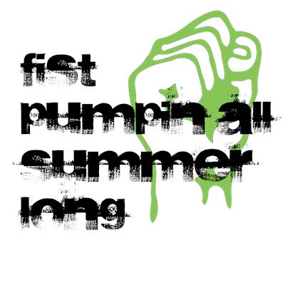 Fist Pumpin All Summer long Jersey Shore t-shirt