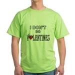 Anti-Valentine Green T-Shirt