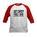 Love Heart Rose Kids Baseball Jersey