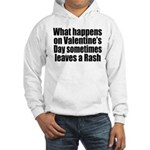 Love Heart Rose Hooded Sweatshirt