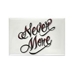 Never More Anti Love Tattoo Rectangle Magnet (10 p