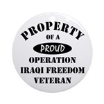 Property of Proud OIF Veteran Ornament (Round)