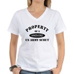 Propert of a US Army Scout Women's V-Neck T-Shirt