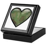 Love Military Cammo Heart Keepsake Box