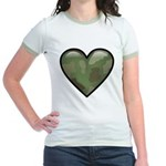 Love Military Cammo Heart Jr. Ringer T-Shirt