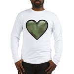 Love Military Cammo Heart Long Sleeve T-Shirt