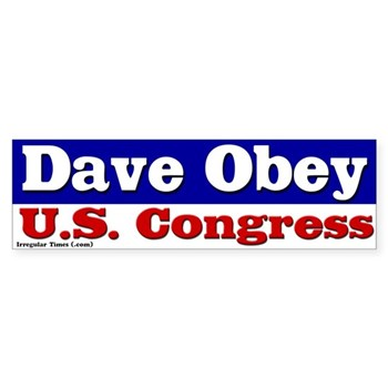 Dave Obey for U.S. Congress bumper sticker