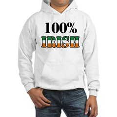 100 Percent Irish T-Shirts Hooded Sweatshirt