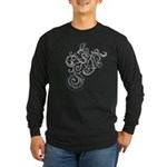 Squiggle Long Sleeve Dark T-Shirt