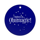 I Believe in Obamagic Ornament (Round)