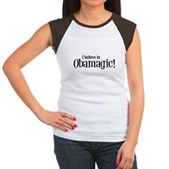 I Believe in Obamagic Women's Cap Sleeve T-Shirt