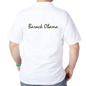 Script Barack Obama Golf Shirt
