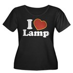 I Love Lamp Women's Plus Size Scoop Neck Dark T-Sh