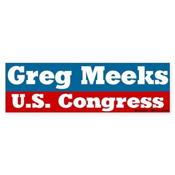 Greg Meeks, Congressman of Distinction!  (Bumper Sticker to support Gregory Meeks for Re-Election in the New York Congressional Race)