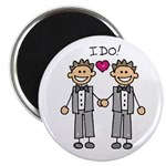 "Men's Gay Marriage 2.25"" Magnet (10 pack)"