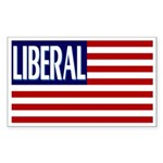 Liberal Flag rectangular bumper sticker