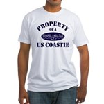 Property of US Coastie Fitted T-Shirt