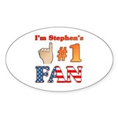 I'm Stephen's #1 Fan Oval Sticker