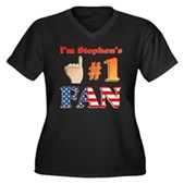 I'm Stephen's #1 Fan Women's Plus Size V-Neck Tee