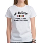I served OIF medal Women's T-Shirt