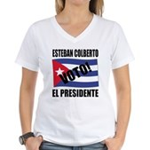 Voto! Esteban Colberto Women's V-Neck T-Shirt