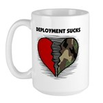 Deployment Sucks Military Large Mug
