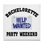 Bachelorette Party Weekend Tile Coaster