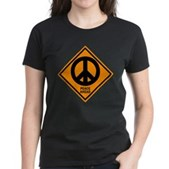 Peace Ahead Women's Dark T-Shirt