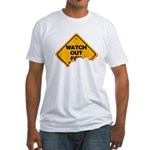 Watch Out! Fitted T-Shirt