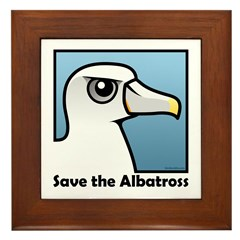 Save the Albatross (close-up) Framed Tile