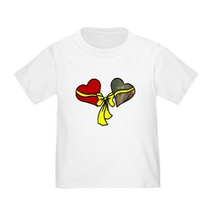 2 Hearts Military Yellow Ribbon Infant/Toddler T-S