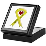 Support Our Air Force Yellow Ribbon Keepsake Box