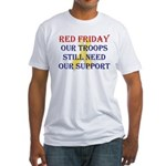 Red Friday Yellow Ribbon Fitted T-Shirt