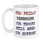 Red Friday Remember our Troop Mug