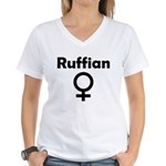 Ruffian Women's V-Neck T-Shirt