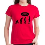 Evolution is following me Women's Dark T-Shirt