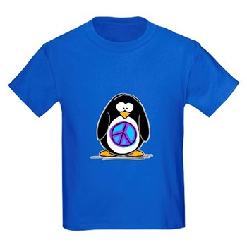 Peace Penguin Kids Dark T-Shirt
