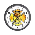 Fire Maltese Wall Clock