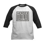 Heroes Priceless Support Our Troops Kids Baseball