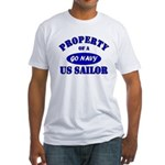 Property of a US Sailor - GO NAVY Fitted T-Shirt