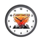 Firefighter Scene Wall Clock