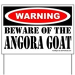 Beware Angora Goat Yard Sign