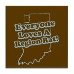 Everyone Loves A Region Rat Tile Coaster