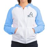Don't Be Scared Shark Women's Raglan Hoodie
