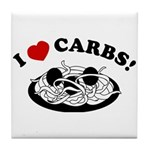 I Love Carbs! Tile Coaster