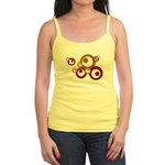 Retro Orange Circles Jr. Spaghetti Tank