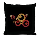 Retro Orange Circles Throw Pillow