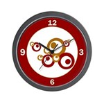 Retro Orange Circles Wall Clock