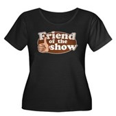 Friend of the Show Women's Plus Size Scoop Neck Da